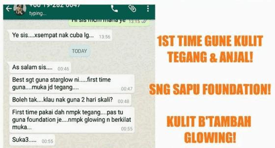 star glow scrub berkesan