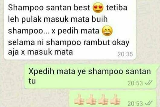 shampoo santan berkesan