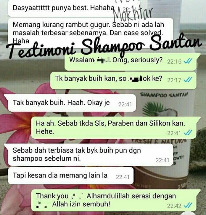 shampoo santan halal