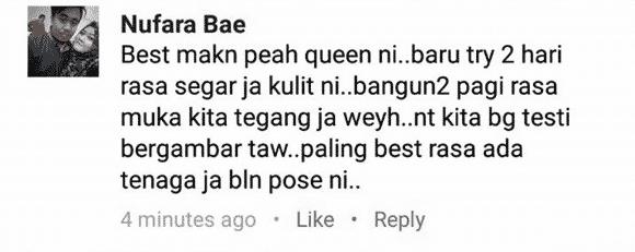 testimoni peah queen serbuk mutiara