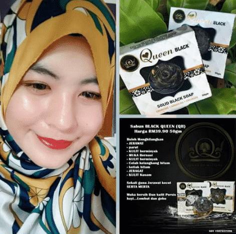 qm queen black soap berkesan