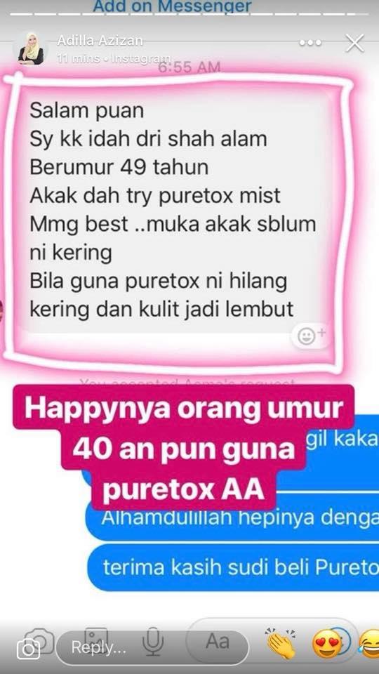 puretox es mist feedback