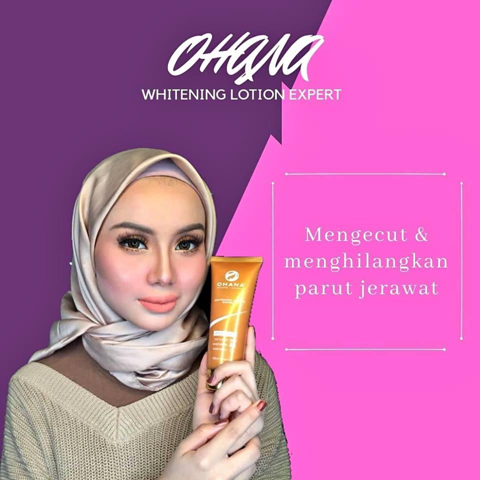 ohana whitening lotion berkesan